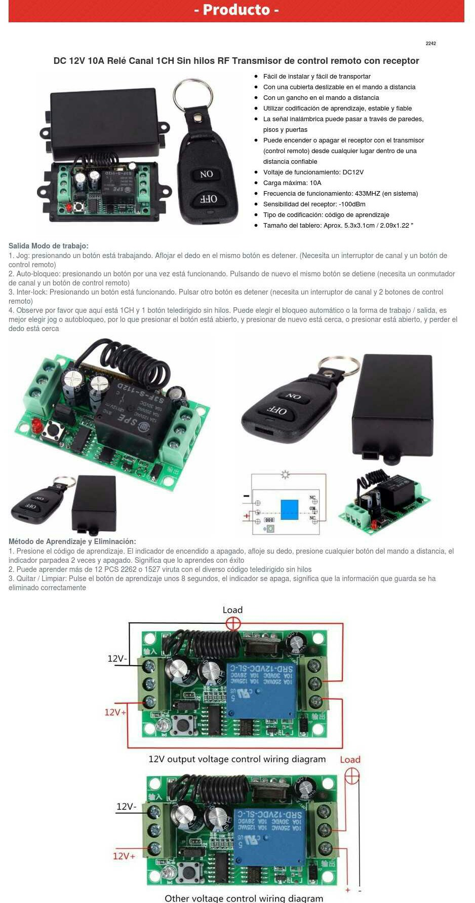 Circuito Emisor Receptor : El transmisor receptor de varias bandas de megaciclos viene en