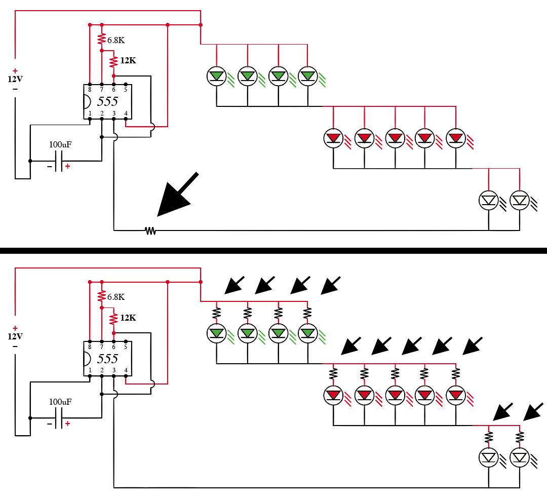 Circuito Led : Solucionado: duda sobre cómo conectar resistencias en un circuito