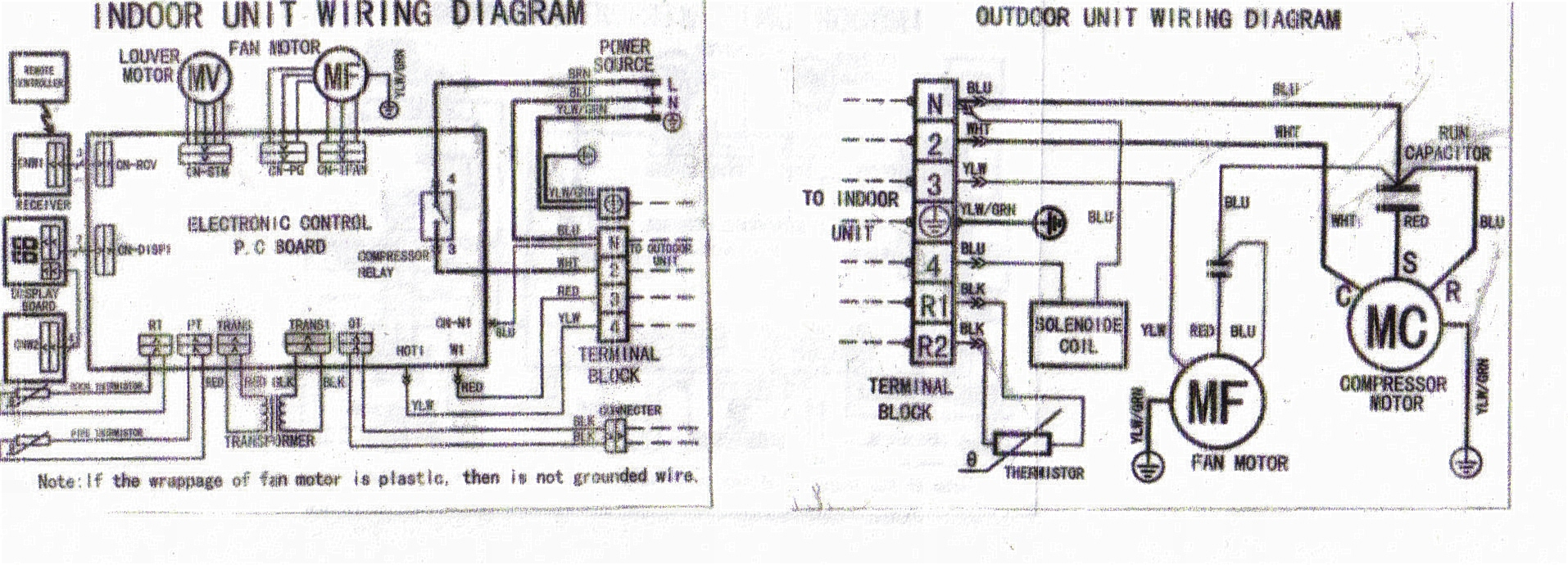 Solucionado The Compressor Motor Does Not Open Indoor Unit Outdoor Wiring Diagrams If Colleague Carmax Is Possible This Poorly Connected Check With